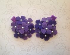 Baby Hair ClipsMini Hydrangea Set of 2 by BabyLiloHairBoutique