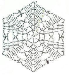 unit flower illustration - Her Crochet Crochet Doily Rug, Free Crochet Doily Patterns, Crochet Snowflake Pattern, Crochet Coaster Pattern, Crochet Stars, Crochet Motifs, Crochet Snowflakes, Crochet Diagram, Crochet Poncho