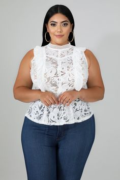 Fat Fashion, Thick Girl Fashion, Plus Size Fashion For Women, Lace Ruffle, Ruffle Top, Lace Dress, Plus Size Dresses, Plus Size Outfits, Mini Dresses