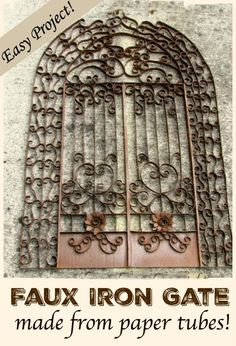 How to make a faux iron gate from paper!