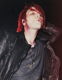 Gerard Way, always making kissy faces.