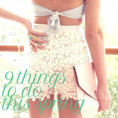 9 things to do this spring #fun!
