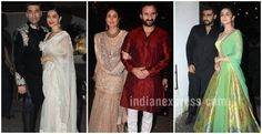 Take festive wear inspiration from our Bollywood celebrities and what they wore for this year's Diwali bashes.