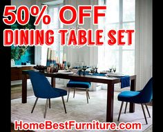 50 PERCENT OFF DISCOUNT Parsons Expandable Dining Table Set Modern