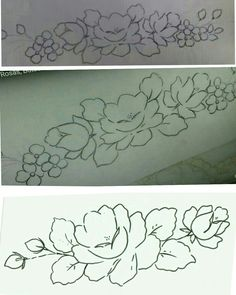 Local Embroidery, Embroidery Patterns, Flower Sketches, Flowers, Bath Towels & Washcloths, Flower Designs, Diapers, Portion Plate, Craft Ideas