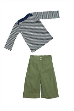 100% cotton pant with elastic at back waist, wide leg styling and button front closure. the perfect pant to pull...