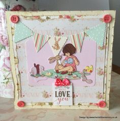 Guess how much I love you - First Edition Love Story and Belle & Boo card by design team member Karen