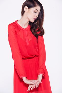 furelle #newlook #chic #ladyinred #dress