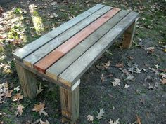 Easy, perfect garden bench!