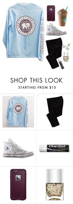 """""""comfy and casual"""" by elizabethclawson ❤ liked on Polyvore featuring Old Navy, Converse, Chapstick, LifeProof, Nails Inc. and Mikimoto"""