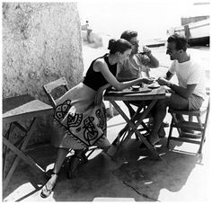 Model Joan Olsen and  with friend on the island of Ischia, photo by Regina Relang, 1953