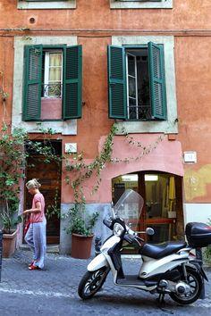Street life in Rome.