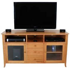 American-made, Classic Shaker TV Stand features vintage, shaker style with a modern design