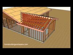 How To Connect Gable Roof into Existing Gable Roof For Room Addition - YouTube