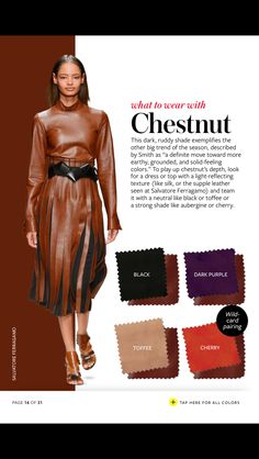 """In Style Fall Color Crash Course: """"What to Wear with Chestnut"""""""