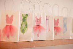 Tutu and tie goody bags Más Ballerina Birthday Parties, Ballerina Party, 4th Birthday Parties, Birthday Ideas, Twin First Birthday, Baby Girl Birthday, Tutu Party, Twins 1st Birthdays, Party Time