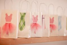 Tutu and tie goody bags