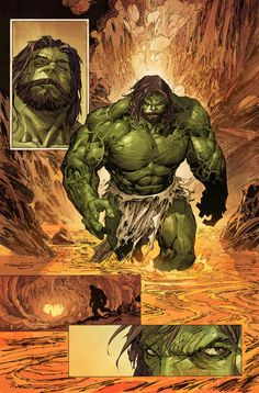 INCREDIBLE HULK #3 Preview 1 - Pencils & Cover by MARC SILVESTRI...looks peaceful with a beard