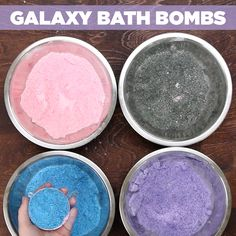 Make these bath bombs for an out-of-this-world spa night.