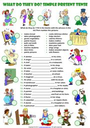 Present Simple Tense ESL Printable Worksheets and Exercises