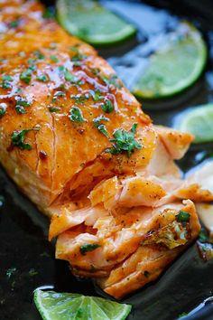 Honey Lime SalmonReally nice recipes. Every hour.Show me what  Mein Blog: Alles rund um Genuss & Geschmack  Kochen Backen Braten Vorspeisen Mains & Desserts!