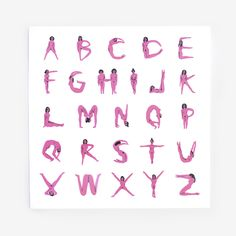 Naked lady alphabet!
