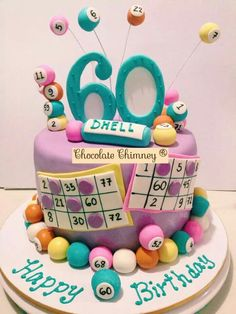 A Bingo Birthday Cake