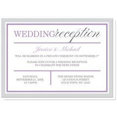 Reception Only Invitation Wording Wedding Help Tips Pinterest
