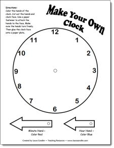 Free Make Your Own Clock Pattern and other printables for time and measurement.