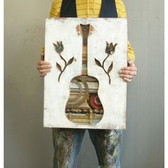 Love this. Country Musician Guitar Modern Folk Art Made in the by dolangeiman, $750.00