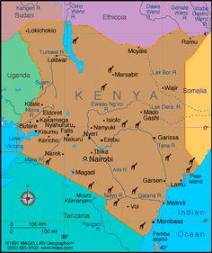 Kenya Atlas: Maps and Online Resources   Infoplease.com