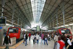 Imagens de Lisboa  - Terminal de comboios da Estação do Rossio.