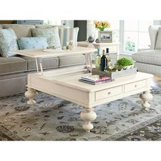Paula Deen Home Put Your Feet Up Coffee Table with Lift-Top | Wayfair