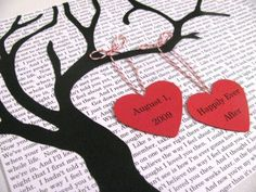 Personalized Tree Silhouette Art Wedding by PlantablesAndPaper, $35.00