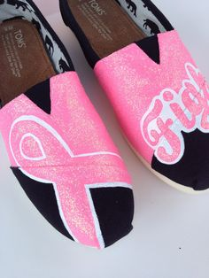 Custom TOMS or BOBS  Breast Cancer FIGHT For by laceykayecreations, $125.00