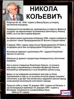 SlAvKo JOVIČIĆ SLAVUJ:  НИКОЛА КОЉЕВИЋ - Да се не заборави,  а заборављен је скоро од свих, нажалост!