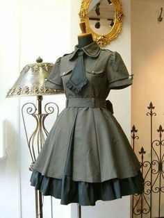 Military style lolita dress
