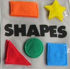 Quiet book page - shape match ups