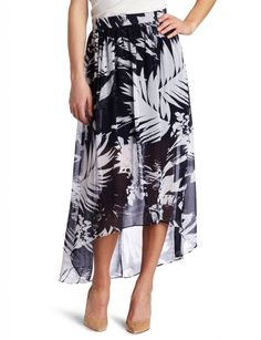Vince Camuto Women's Abstract Leaf Maxi Skirt