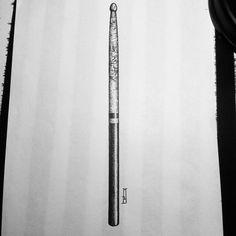 Design for @lokalldz #drumstick #drawing #music #flashaddicted #marcinbrzezinski #mb #stronghold #strongholdtattoo #art #tattooartist #tattooflash #london #iblackwork #customtattoo #tattoodesign #dotwork #newtattoo #tattoos #blackwork_publicity #ink #bw #blacktattoo #ink #blackink #onlyblackart #musiclover #drummer