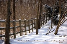 Scripture Quote about Snow Fence Gate, Fences, Snow Quotes, Scripture Quotes, Winter Scenes, Best Quotes, Inspirational Quotes, Theme Ideas, Words