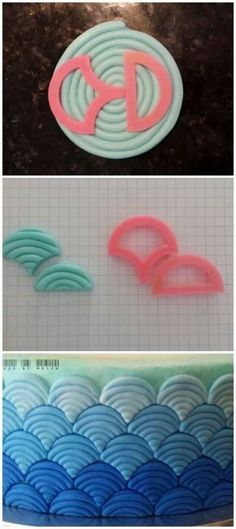 Waves Cake Decoration :: Lc- love this!! Gotta get these cutters (and a reason to do this!!)