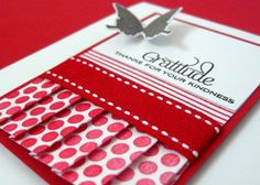pleated paper card - bjl