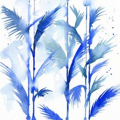 Blule - Blue Jungle - with feather trees