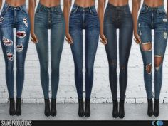 Skinny Jeans Set 89 by ShakeProductions at TSR • Sims 4 Updates