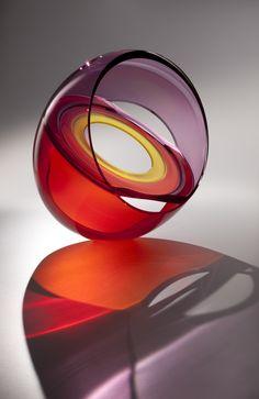 ○ Glass Sculpture 'Skagit Halo' by John Kiley at Schantz Galleries