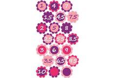 Magasságmérős jelölő matrica, pink, lila Pink, Pink Hair, Roses
