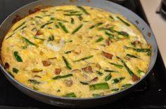 spring veggie and potato frittata