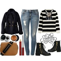 Perfectly Imperfect Casual Winter Style by latoyacl on Polyvore featuring polyvore, fashion, style, The Kooples, American Eagle Outfitters, STELLA McCARTNEY, Giuseppe Zanotti, Valentino, Kevyn Aucoin and Bobbi Brown Cosmetics