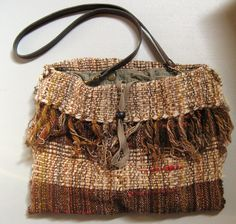 Rustic Bag - SAORI handwoven bag on Etsy, $78.84